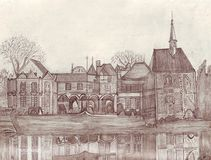 Frans kasteel royalty-vrije illustratie