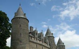 Frans Kasteel met Torentjes - Bretagne, Frankrijk Royalty-vrije Stock Foto's