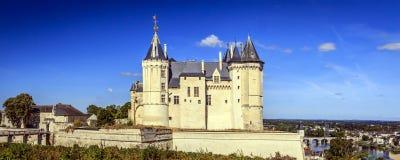 Frans kasteel in Saumur, Maine-et-Loire, Frankrijk stock fotografie