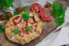 Frans koekje met tomaten en kaas Royalty-vrije Stock Afbeelding