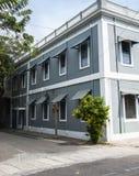 Frans Kwart van Pondicherry, India stock foto's