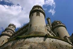 Frans middeleeuws kasteel Pierrefond Royalty-vrije Stock Foto's