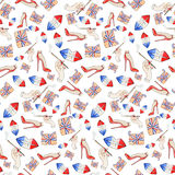 Frans naadloos patroon stock illustratie