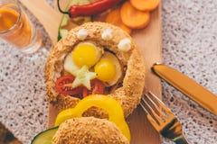 Frans ontbijt Stock Afbeeldingen