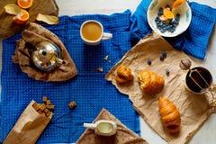 Frans ontbijt royalty-vrije stock foto's
