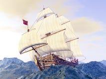 Frans Oorlogsschip vector illustratie