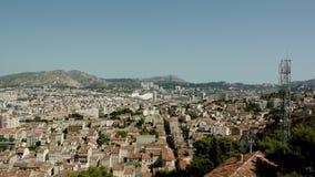 Frans Stadion in Marseille, Frankrijk - luchtmening stock videobeelden