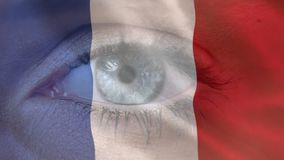 Frans Vlag en het openen oog royalty-vrije illustratie