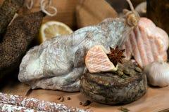 Frans vlees met kazen Royalty-vrije Stock Afbeelding