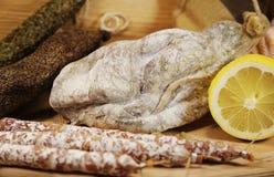 Frans vlees met salami Royalty-vrije Stock Afbeelding