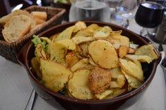 Frans voedsel op restaurantlijst royalty-vrije stock afbeelding