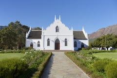 Franschhoek教会,开普敦,南非 免版税库存照片