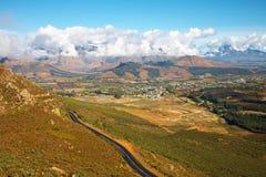 Franschhoek landscape royalty free stock image