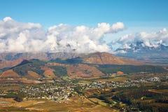 Franschhoek landscape Stock Images
