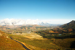 Franschhoek landscape stock photos
