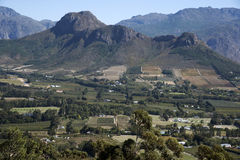 Franschhoek Valley in the Western Cape South Africa Royalty Free Stock Images