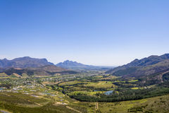 Franschoek wine region close to Cape Town, South Africa. Franschoek wine region close to Cape Town in South Africa Stock Photos