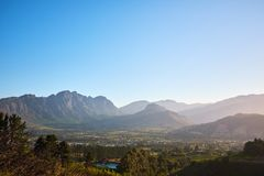 Franschoek Winelands stockfotos