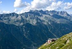 Franse alpen in Chamonix Stock Afbeeldingen