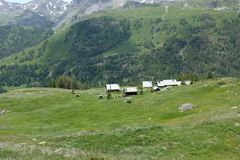 Franse Alpen stock afbeelding