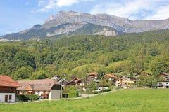 Franse Alpen in Passy royalty-vrije stock foto