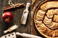 Franse appeltaart Stock Afbeelding