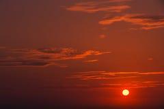 Franse Atlantische zonsondergang 2 Stock Afbeeldingen