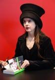 Franse/Belgische fictieschrijver Amelie Nothomb Stock Foto