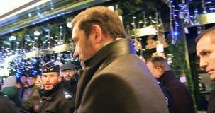 Franse binnenlandse minister Christophe Castaner stock footage