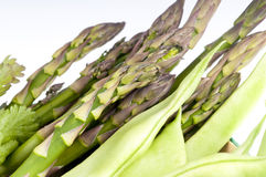 Franse bonen, asperge en peterselie stock afbeelding