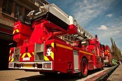 Franse brandvrachtwagen in Parijs - Frankrijk Royalty-vrije Stock Foto's