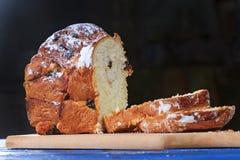 Franse cake gesneden plakken stock fotografie