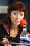 Franse/Canadese schrijver Nancy Huston Stock Foto's