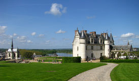 Franse Chateau op de Loire Stock Foto's