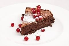 Franse chocoladecake Stock Afbeelding