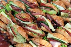 Franse croissantsandwiches Stock Foto's
