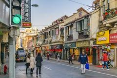 Franse de Concessiestreek van Shanghai royalty-vrije stock foto's