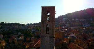 Franse de stadsgrasse KATHEDRAAL van de Provence, Mening van Oude Franse Stad stock video
