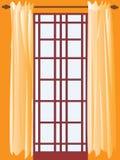 Franse deur in mijn ruimte Stock Foto