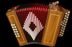 Franse diatonische harmonika royalty-vrije stock fotografie