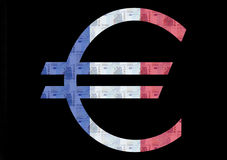 Franse Euro vlag stock illustratie