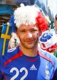 Franse football fan portrait Stock Image