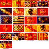Franse gebiedenvlaggen Stock Foto