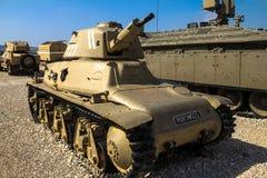 Franse gemaakte Hotchkiss h-39 lichte tank Latrun, Israël Royalty-vrije Stock Fotografie