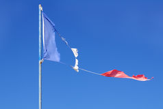 Franse gescheurde vlag Royalty-vrije Stock Fotografie