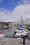 Franse haven in Honfleur stock afbeeldingen