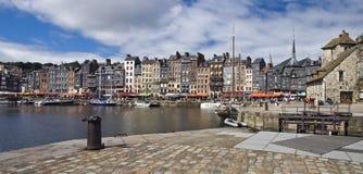 Franse haven in Honfleur stock fotografie
