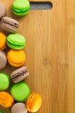 Franse heerlijke dessertmakarons Royalty-vrije Stock Afbeelding
