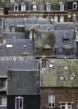 Franse het behang paterns mooie huizen van stadsnormandië royalty-vrije stock foto