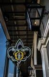 Franse het Kwartarchitectuur van New Orleans - Bourbonstraat stock fotografie